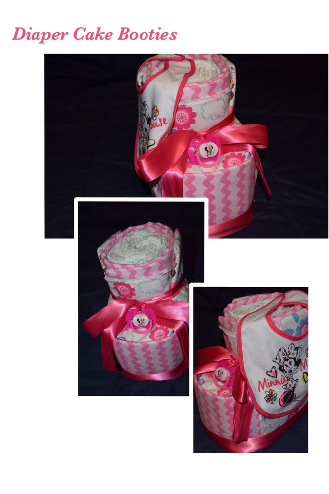 Image of Baby Booties Diaper Cake