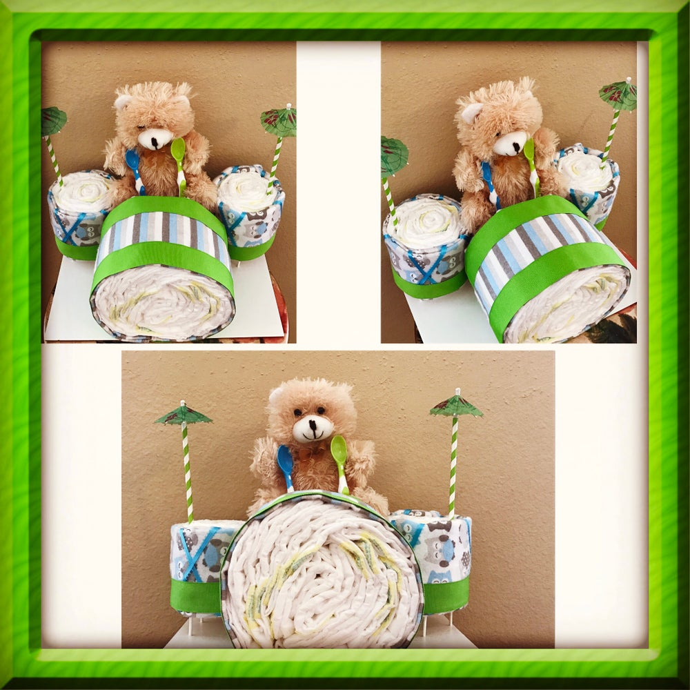 Image of Stuffed Animal Drum Set