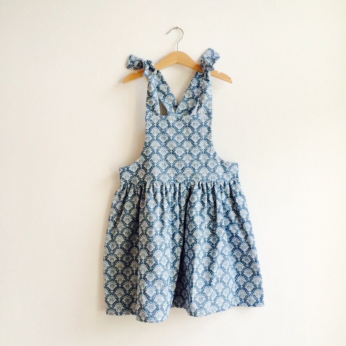 Pinafore Dress - blue pattern