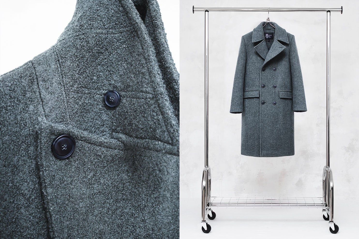 Image of LIMITED EDITION | Gray Wool-Blend Bouclé Overcoat