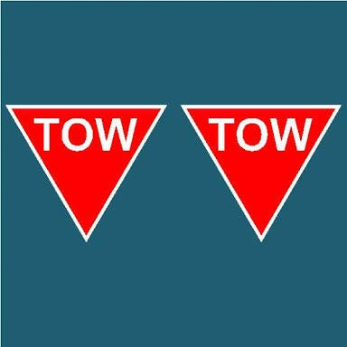 Image of Cams approved tow stickers x2