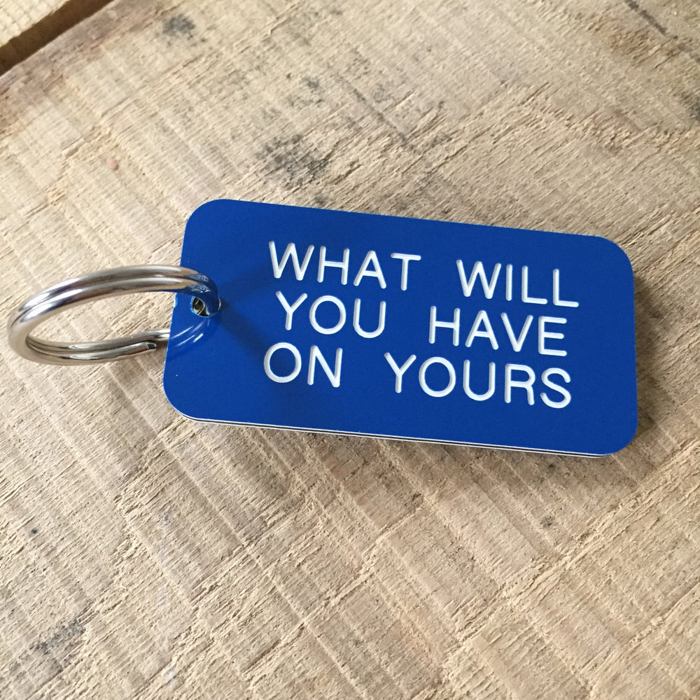 Image of Industrial Locker Style Keyring - personalised to order
