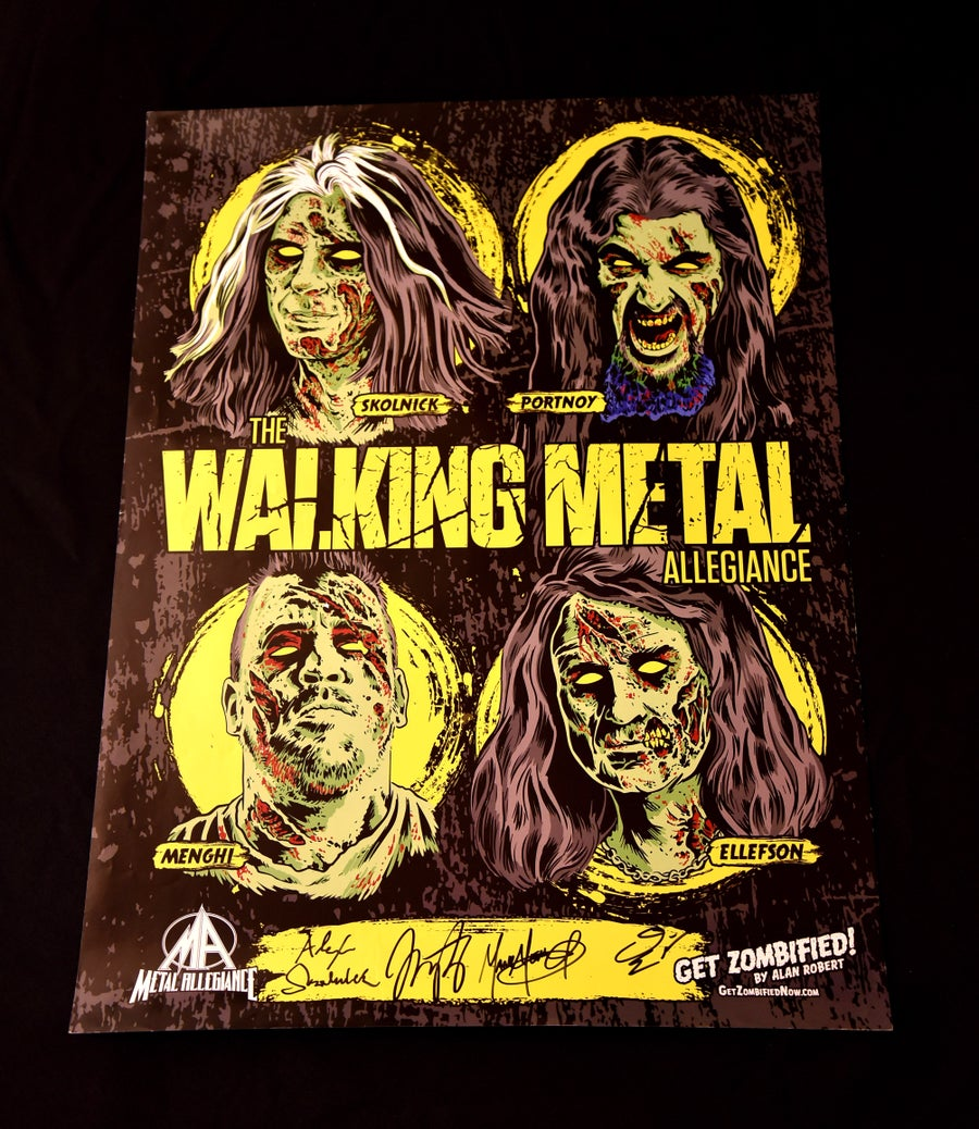 Image of The Walking Metal Allegiance Signed Poster