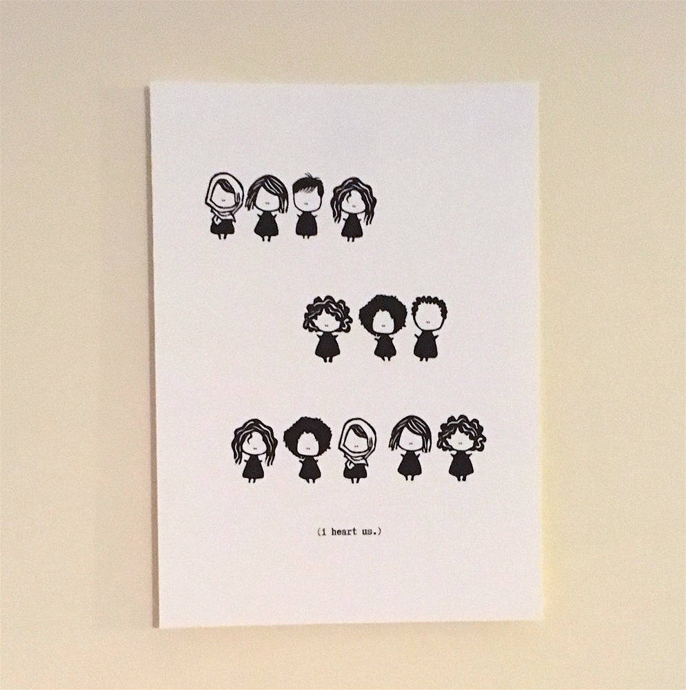 Image of (i heart us.) print