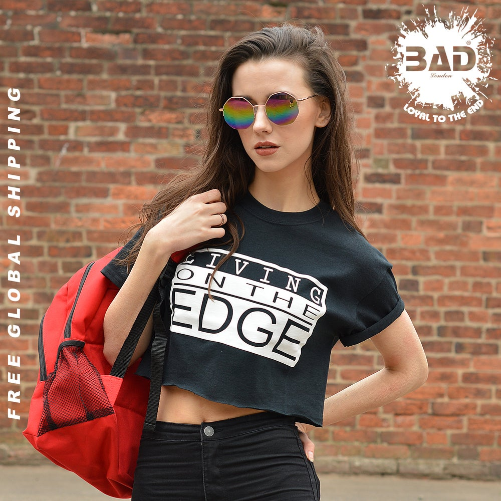 Image of Premium Cropped T shirt by Living on the Edge, Couture Urban Designer Streetwear and Fitness Fashion
