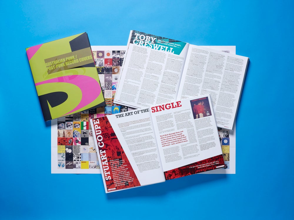Image of BOOK with POSTER Product 45 Australian Punk / Post-Punk Record Covers