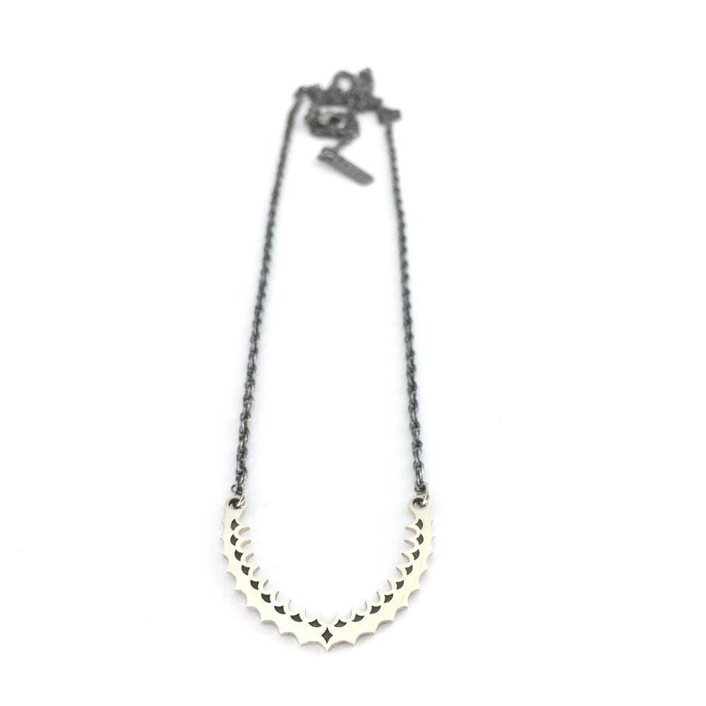 Image of Oxidised Arch necklace