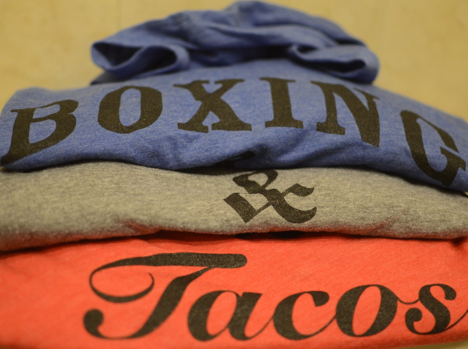 Image of Women's boxing & tacos crewneck tshirts (3 colors)