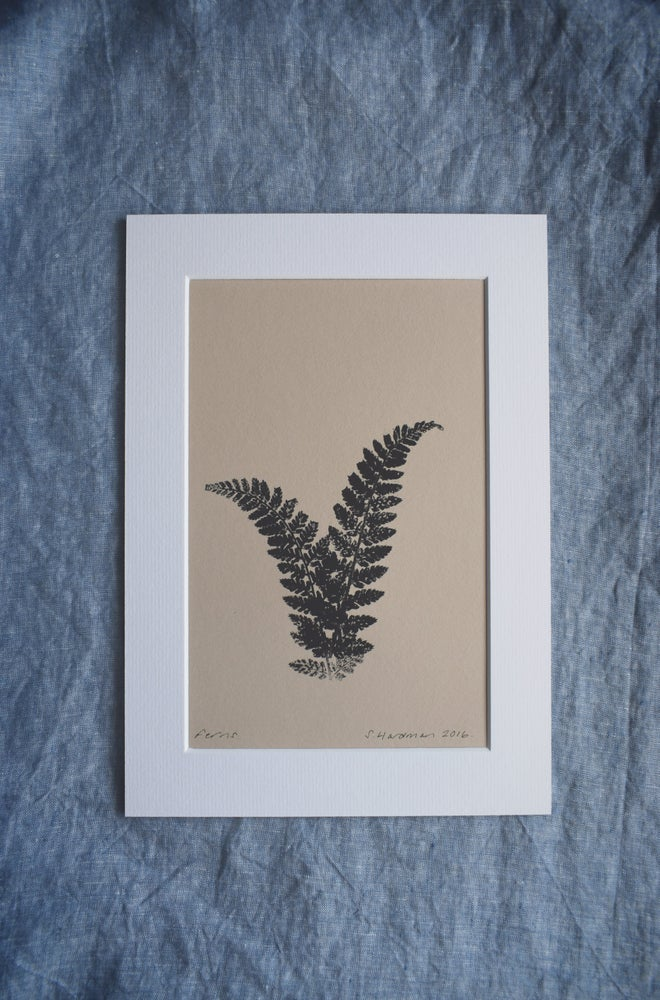 Image of Original mono print: Ferns