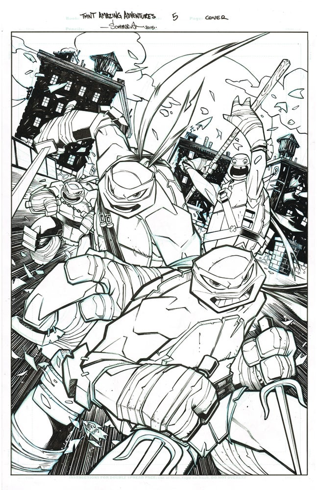 Image of ORIGINAL ART TMNT Amazing Adventures COVER 5