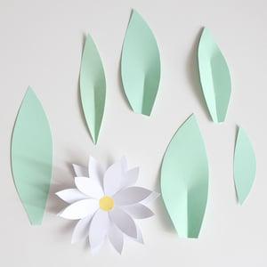 Image of Plantilla flor Nº3  y hojas + Guía paso a paso