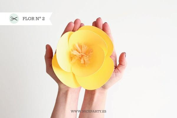 Image of Plantilla flor Nº2  y rama + Guía paso a paso