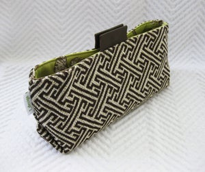 Image of SM_brown houndstooth/ pale green floral