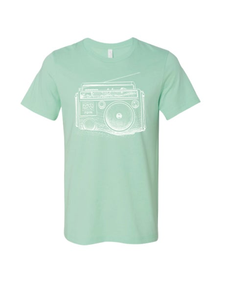 Image of RadioSurfer with Lime T-Shirt