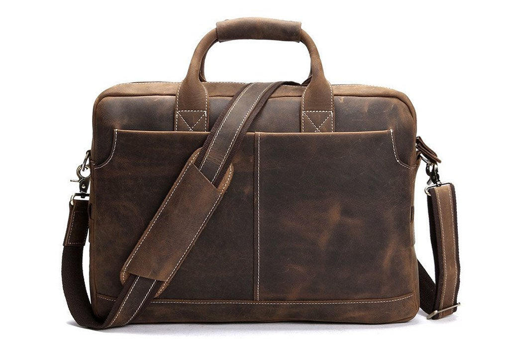 85cee6b92f8d Handmade Vintage Leather Mens Briefcase, 16