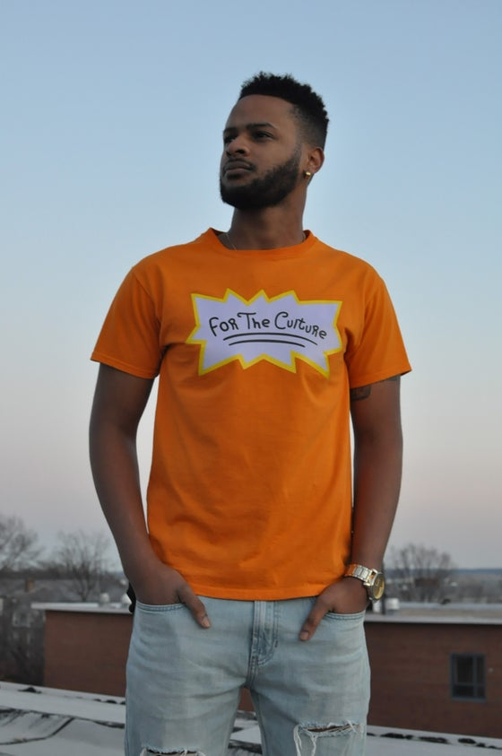 "Image of ""For The Culture"" T-Shirt - Orange"