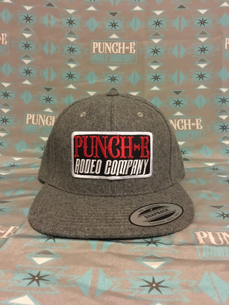 Image of Punch-E Patch (wooly) heather grey