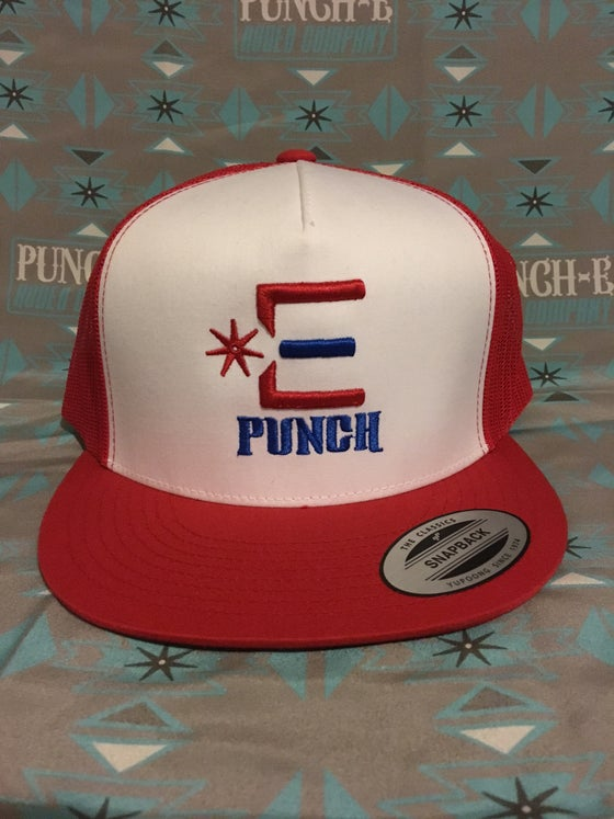 Image of Punch-E Logo (Red/white)