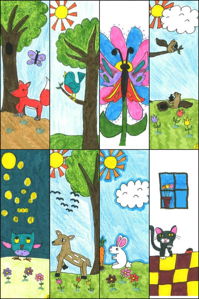 Image of Kid-Made Bookmarks for a Cause!