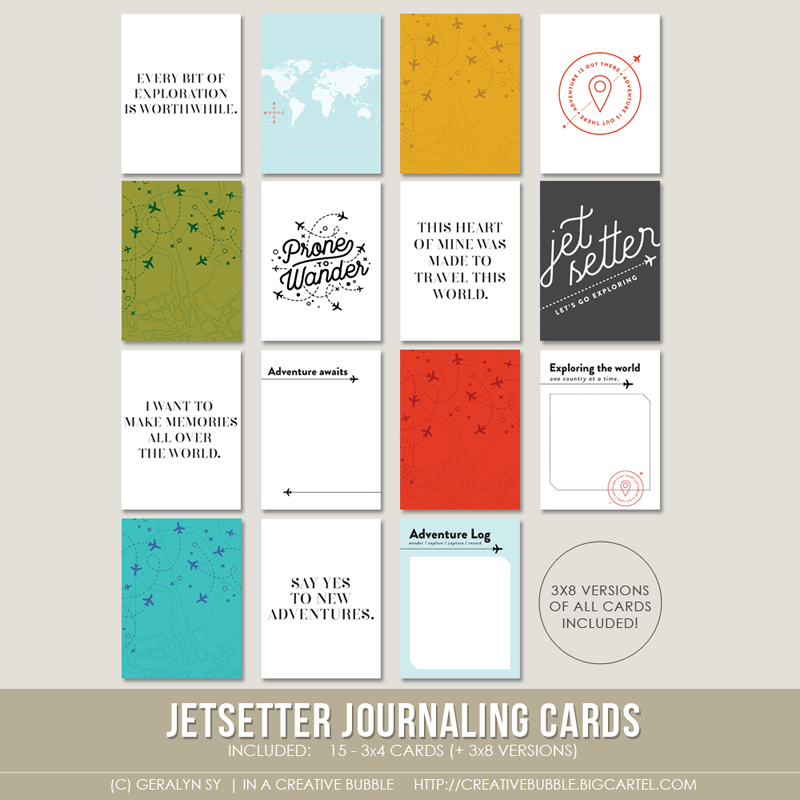 Image of Jetsetter Journaling Cards (Digital)