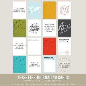 Image of Jetsetter Journaling Cards (Digital)