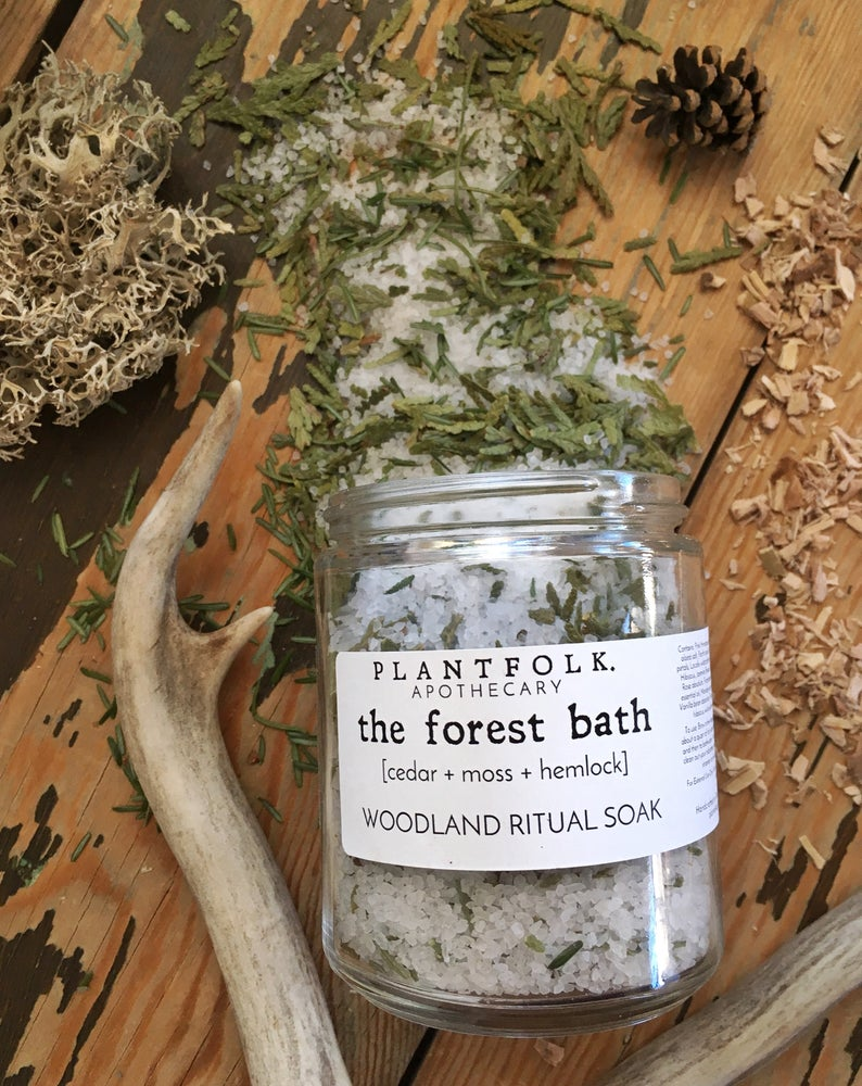 Image of the forest bath / woodland ritual soak