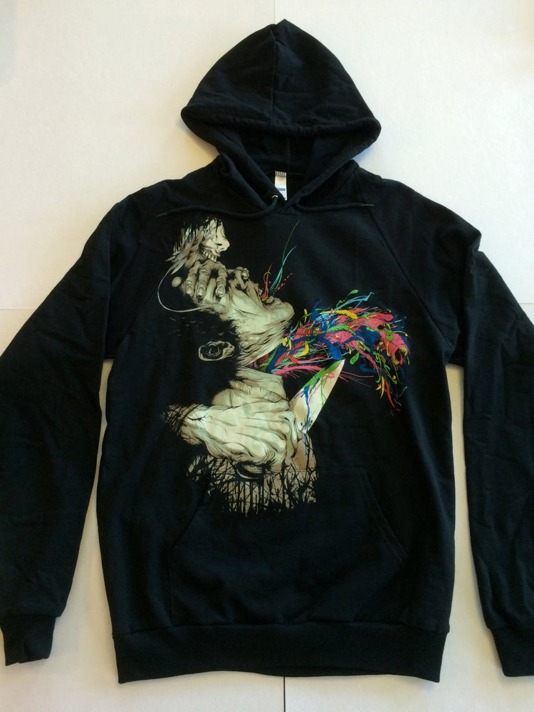 Image of Escaped Conviction | Pullover Hoodie | By Alex Pardee