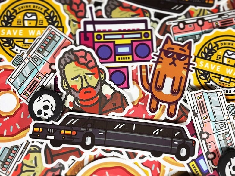 Image of Mega Cool Awesome Sticker Bundle Pack Thing