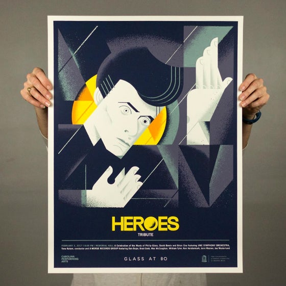 Image of Glass at 80 - Heroes Tribute Poster