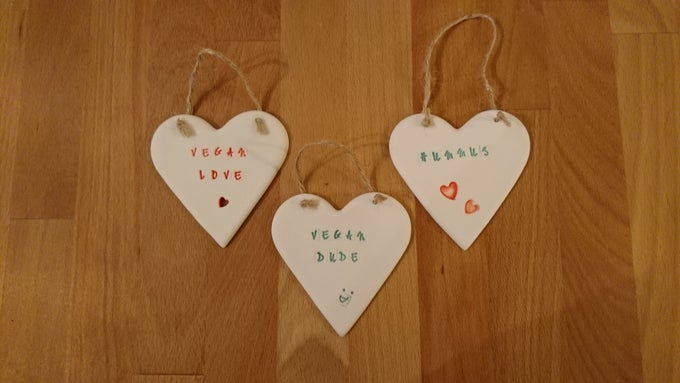 Image of Large Porcelain hearts