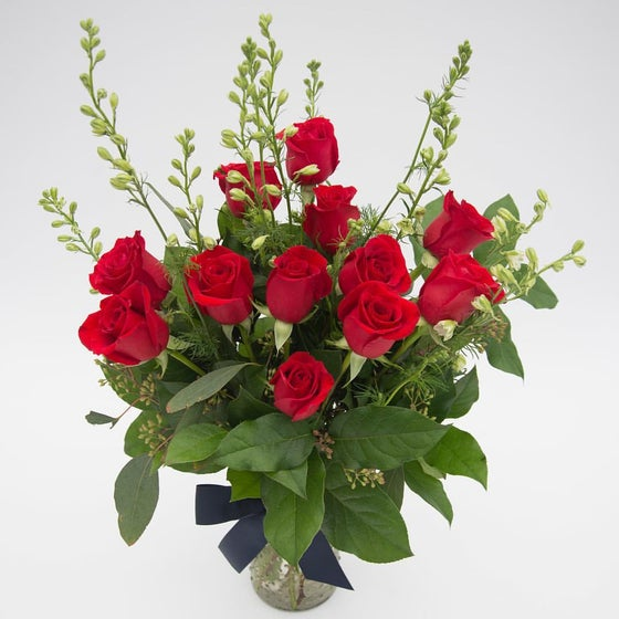 Image of GORGEOUS DOZEN OF RED ROSES