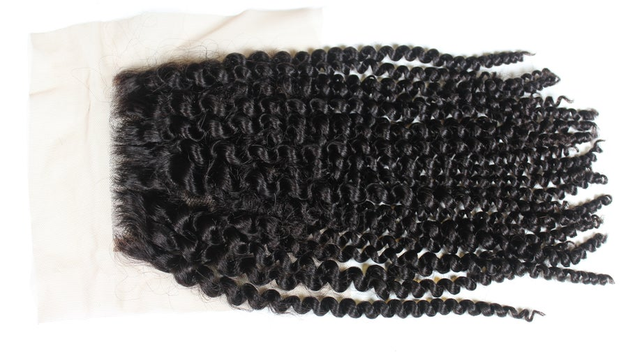 "Image of ""Kinky, Curly Dreams Come True"" 4x4 Lace Closure"