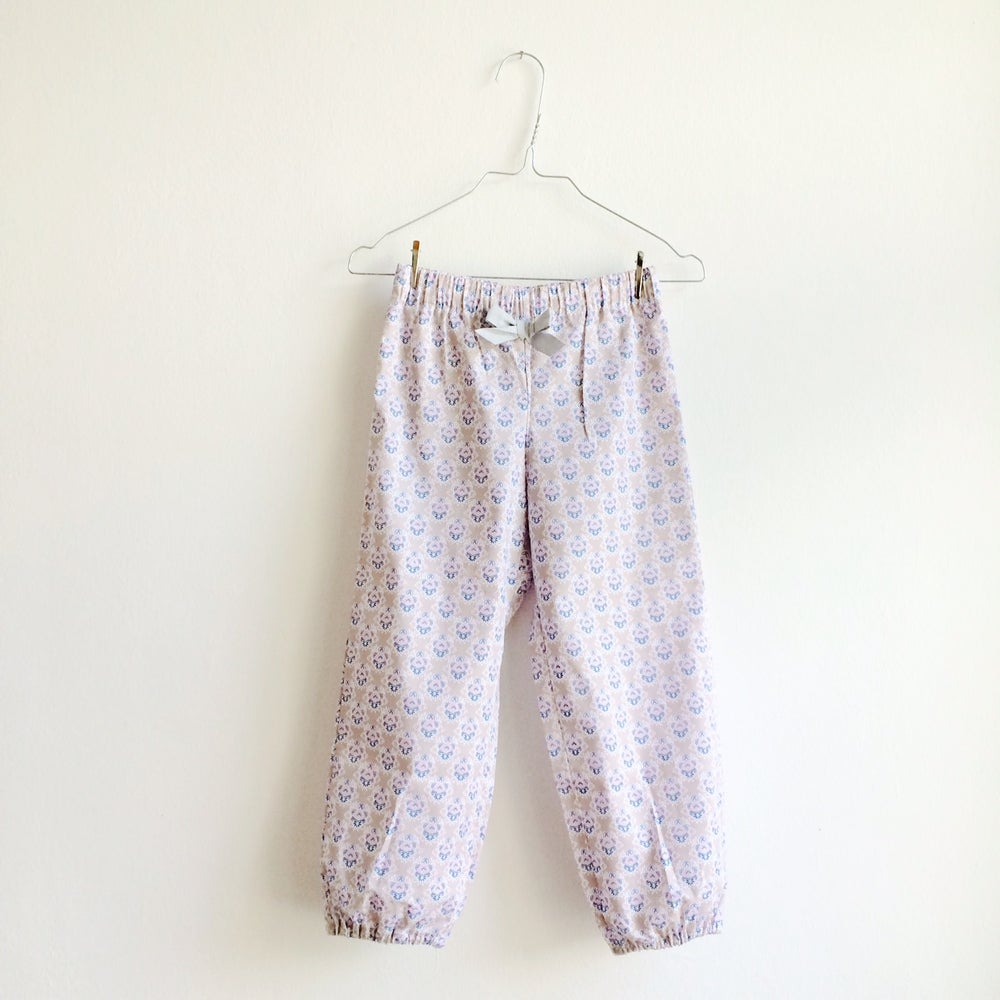 Image of Rosa Pants-blue pattern
