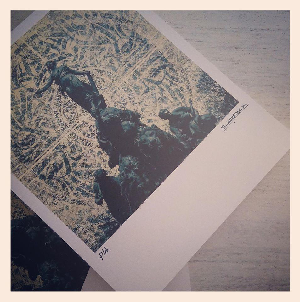 Image of Print de Amine Aitouche 'Sneak'