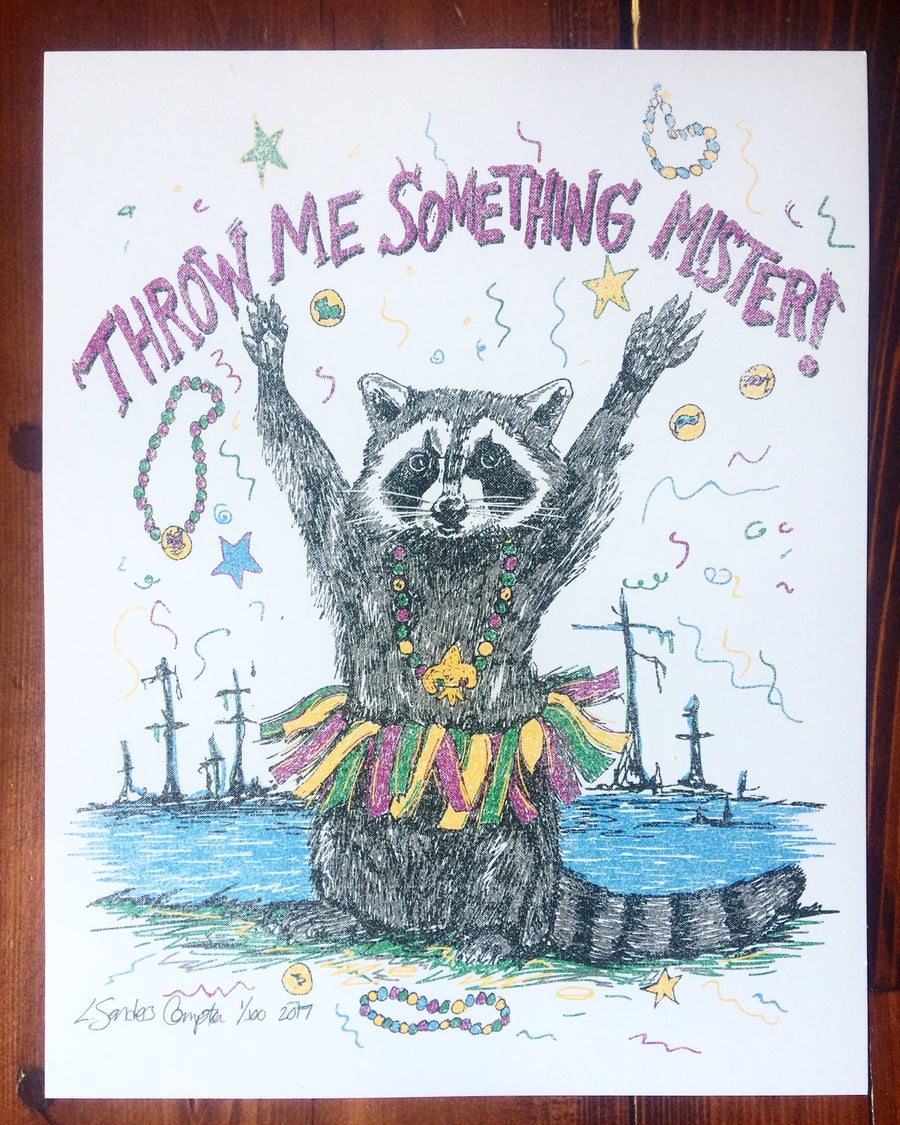 Image of 2017 Throw Me Something Mister Mardi Gras Poster