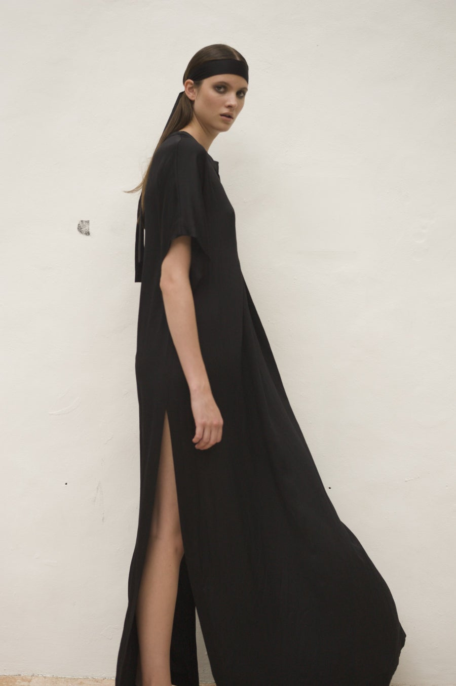 Image of ROB long dress uni black