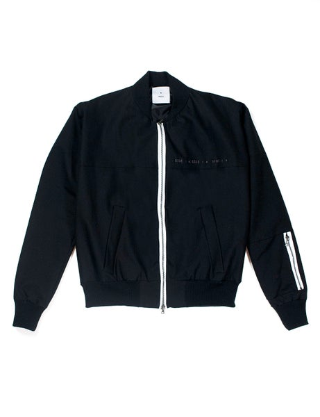 Image of Contrast Zip Embroidered Bomber