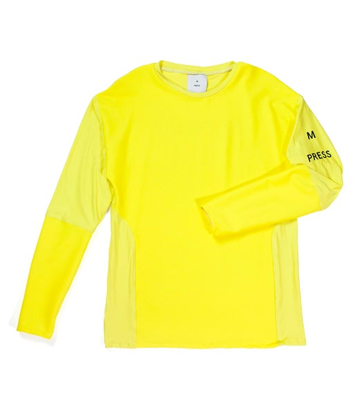 Image of Ribbed panel long sleeve top