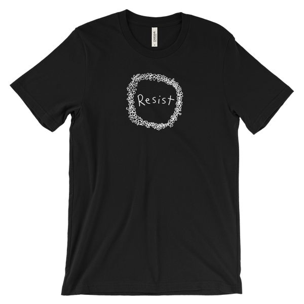 Image of Resist wreath tshirt - Black