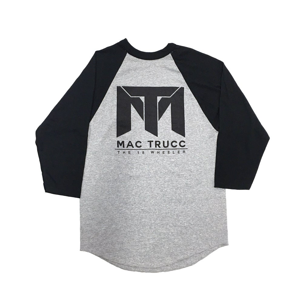 Image of MT Logo Baseball T (Heather Gray/Black)