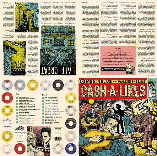 Image of CASH-A-LIKES 18 Men In Black Who Walked The Line Vinyl LP