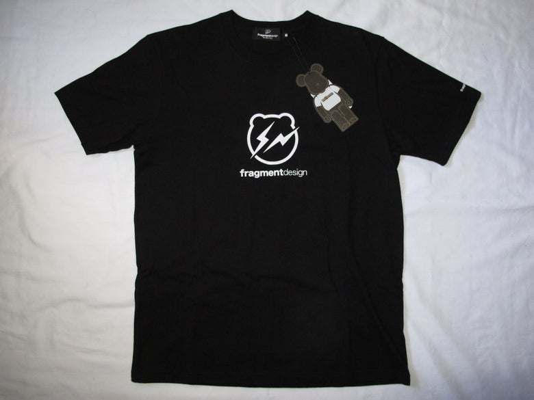 Image of MEDICOM X FRAGMENT DESIGN- LOGO BE@RTee(Black)