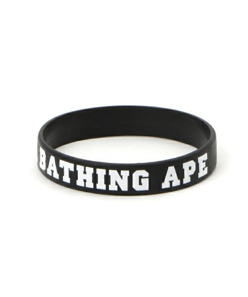 Image of A Bathing Ape - Rubber Bracelet (Black)