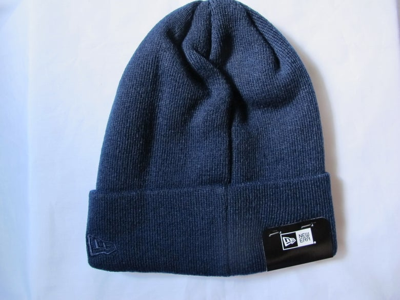 Image of Fragment x New Era - BASIC CUFF KNIT (Navy)