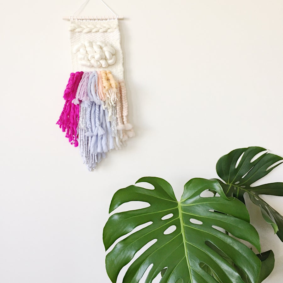 Image of Woven Wall Hanging - Fringe Party II