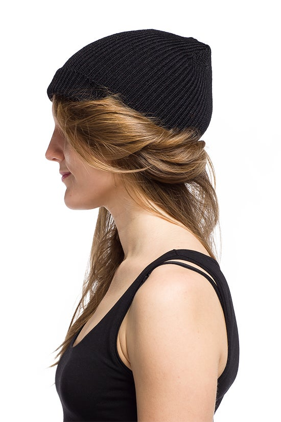 Image of WOOLEN BEANIE Black