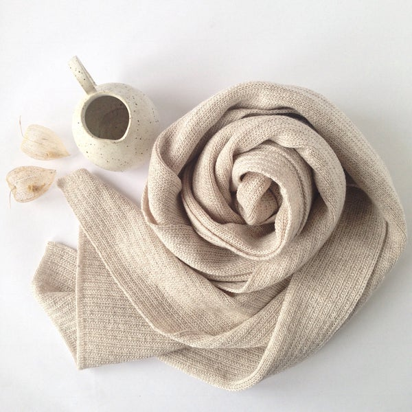 Image of Wooden Stribes Scarf  // Sand