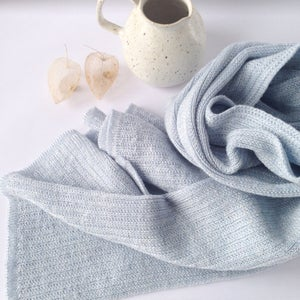 Image of Wooden Stribes Scarf // Ice blue