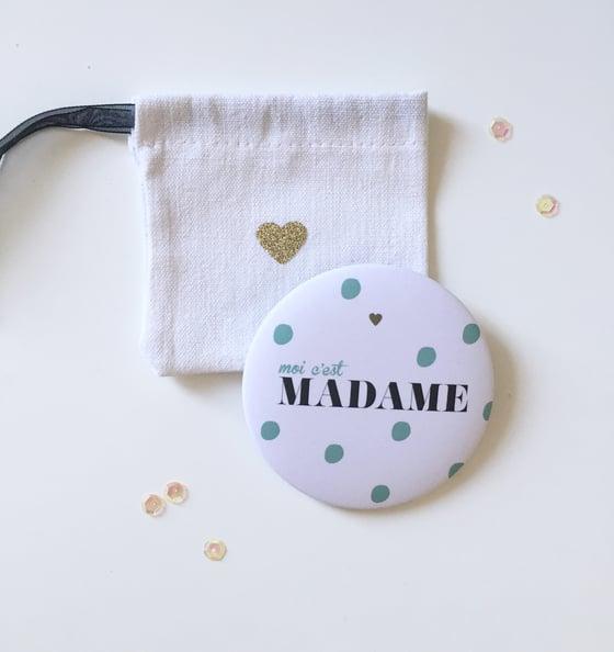 """Image of Miroir de poche """"Moi c'est Madame"""" 75mm"""