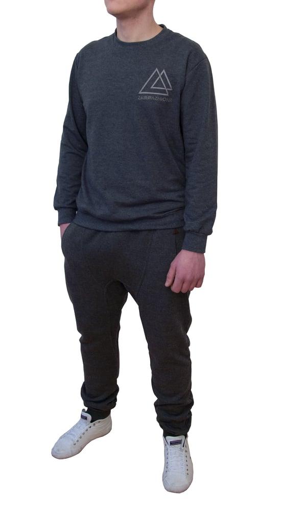 Image of Men Sweatshirt Denim Chic Grey
